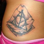 Deathly Hallows on Parchment Tattoo
