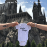 This is a wonderful way to announce a pregnancy and show your love of Harry Potter!