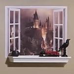 Get ideas for a Harry Potter themed playroom by incorporating Harry's magical world into your Muggle one.