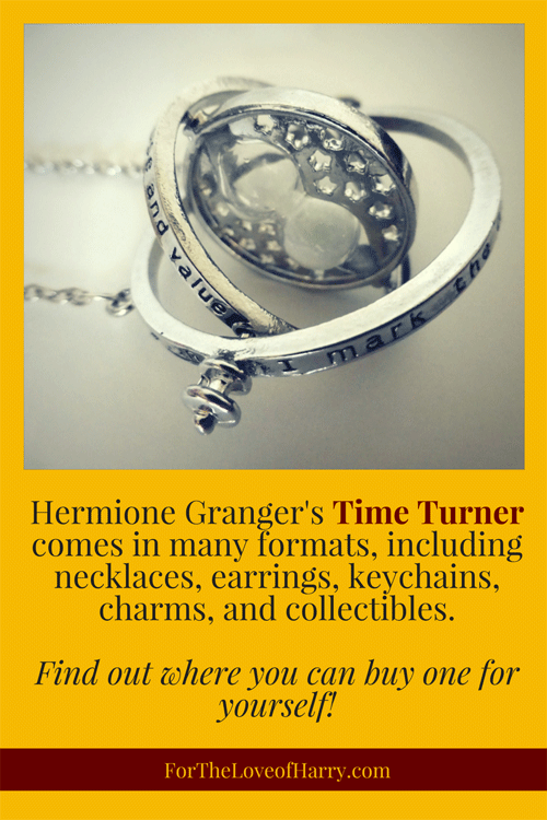 Hermione Granger's Time Turner comes in many formats, from necklace and earrings to keychain and collectible. Find out where you can buy one for yourself!