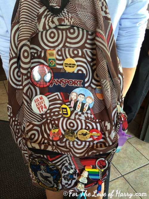 Harry Potter backpack adornments