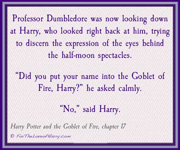 Example of Dumbledore calm in a crisis