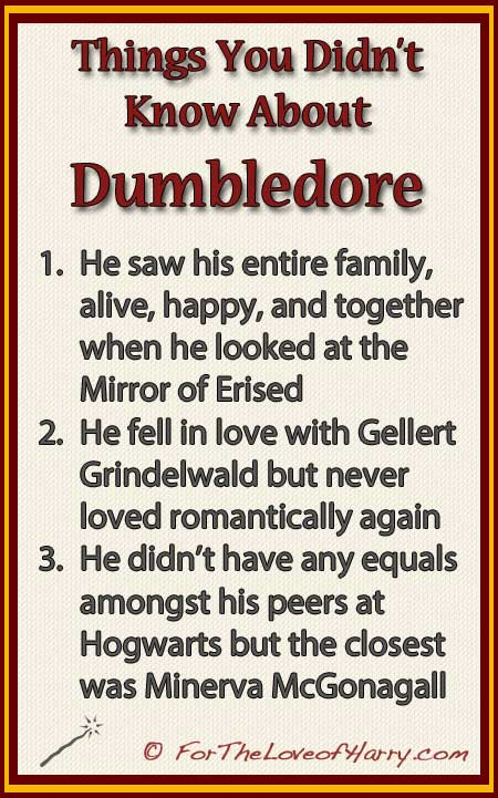 Things You Didn't Know About Dumbledore