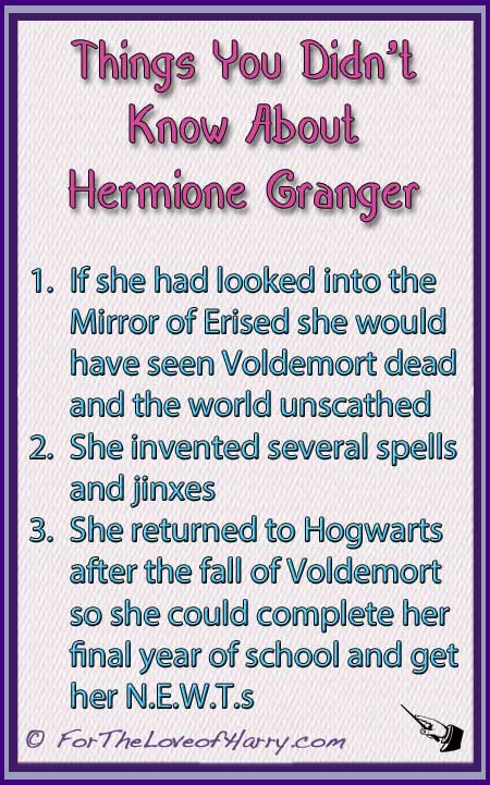 Things You Didn't Know About Hermione Granger