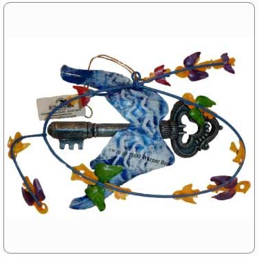 Kurt Adler Flying Keys Tin Ornament