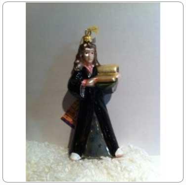 Kurt Adler Polonaise Glass Hermione Granger Ornament