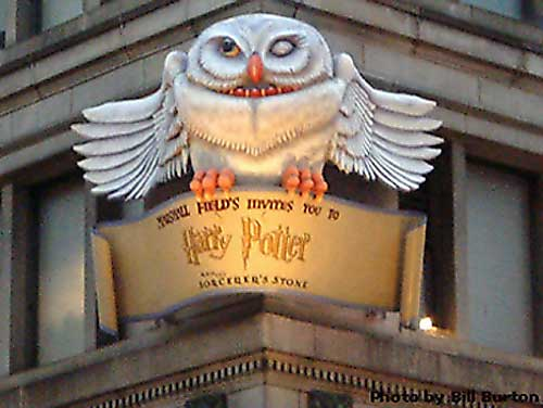 Marshall Field's Harry Potter Display 1 - Hedwig