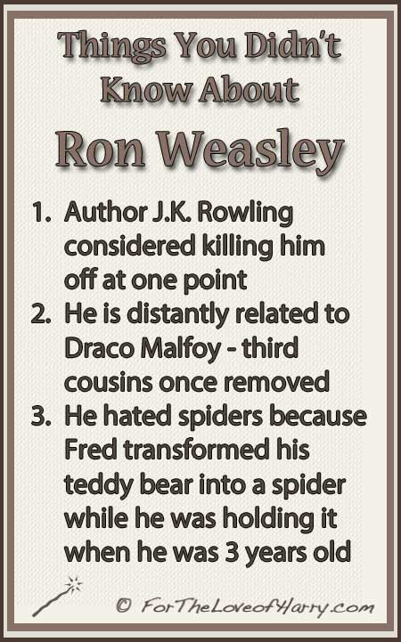 Things You Didn't Know About Ron Weasley