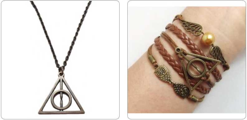 Deathly Hallows Necklace or Bracelet