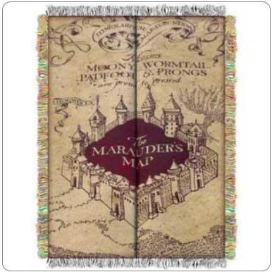 Marauders Map Blanket