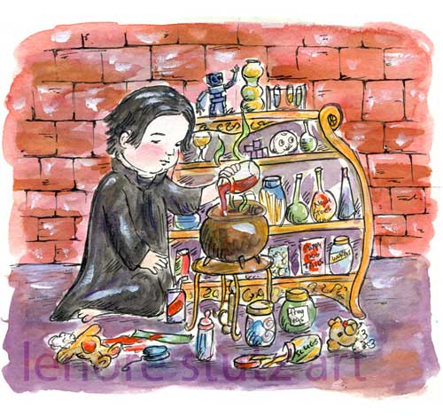 Young Severus Snape and a Potions Set