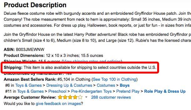 Amazon International Shipping