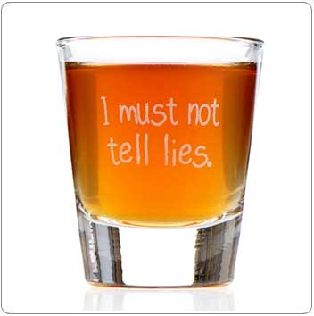 I Must Not Tell Lies Harry Potter Shot Glass