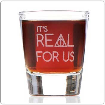 It's Real For Us Harry Potter Shot Glass