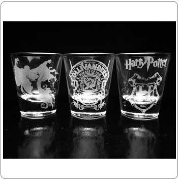 Misc. Set of Harry Potter Shot Glasses