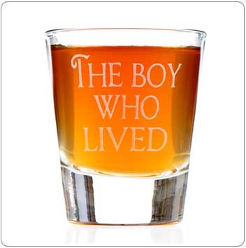 The Boy Who Lived Harry Potter Shot Glass