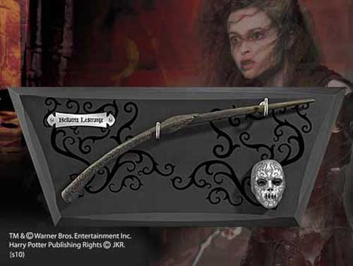 Bellatrix Lestrange Wand with Display and Mask
