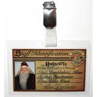 Dumbledore ID Badge