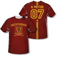 Gryffindor Quidditch Jersey Shirt For Men