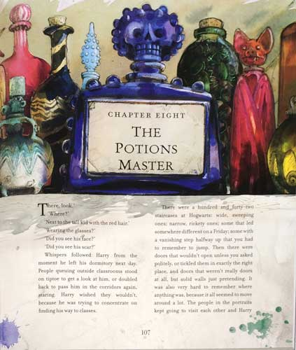 Jim Kay's Chapter Page of the Illustrated Sorcerer's Stone