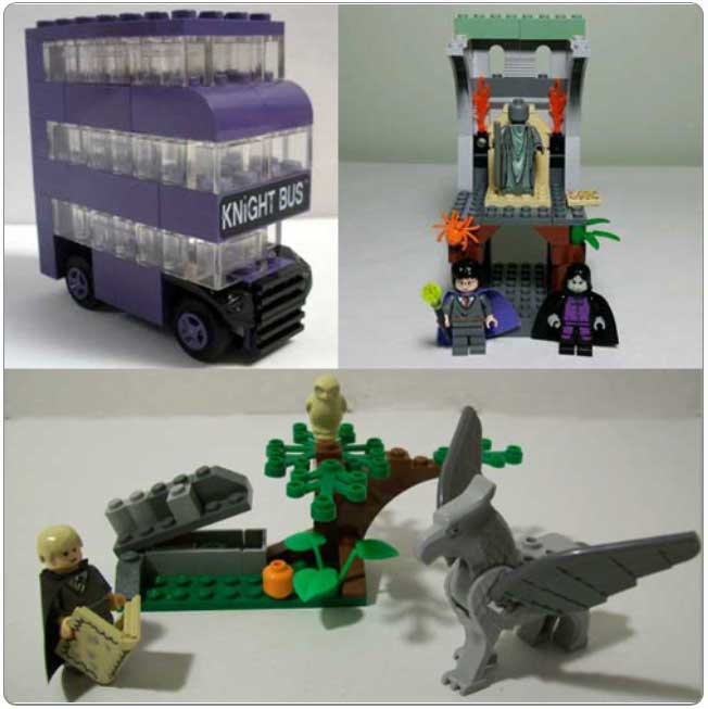 Collection of LEGO sets in the Marauder's Map set
