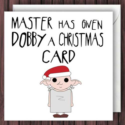 Master Has Given Dobby a Christmas Card by TheDandyLionDesigns