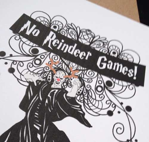 No Reindeer Games Card by DoodleButtons