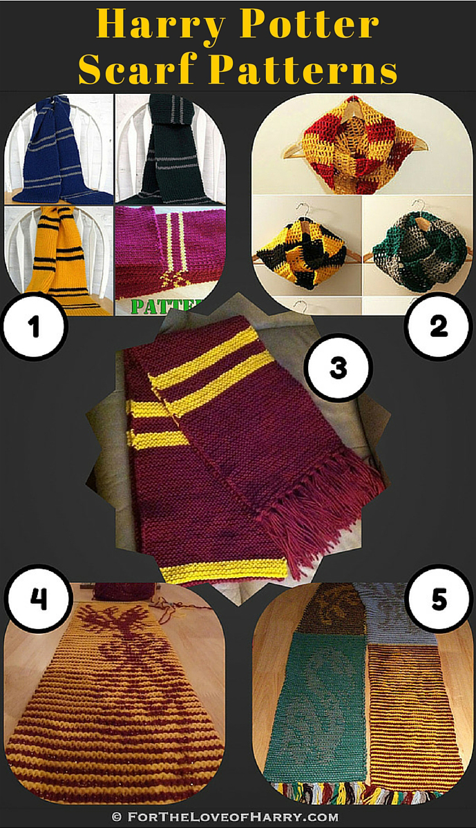 Knitting Patterns for Harry Potter Scarves • For The Love of Harry