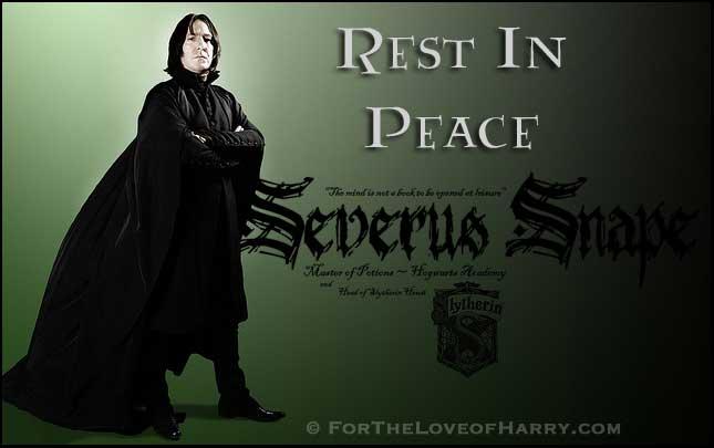 RIP Professor Severus Snape