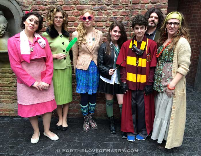 A group of people dressed up as their favorite Harry Potter characters
