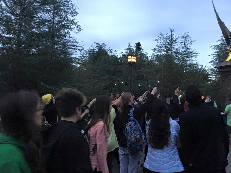 Wands Raised To Honor Snape