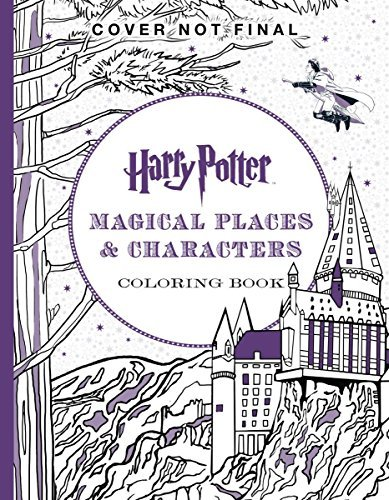 Purple cover for Harry Potter Magical Places & Characters Coloring Book