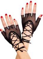 Black fishnet gloves for a Severus Snape Boggart costume