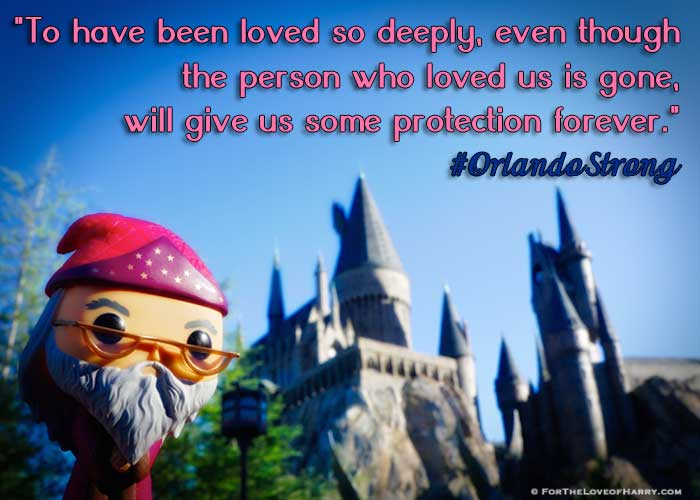 My picture of Dumbledore showing support for the victims and survivors of the June 12, 2016 Pulse attack