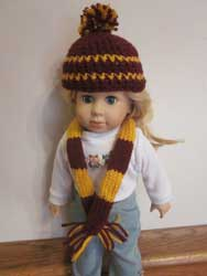 Knitted Gryffindor hat and scarf