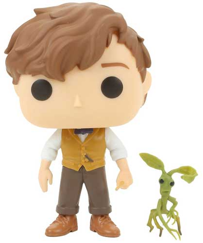 Funko Pop of Newt Scamander and his Bowtruckle, Picket