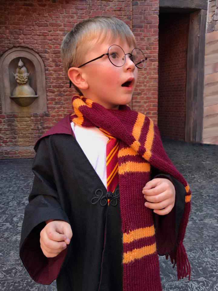 A young boy's reaction the first time he entered Diagon Alley