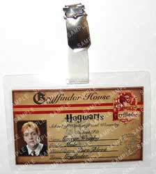 ID Badge for Fred or George Weasley