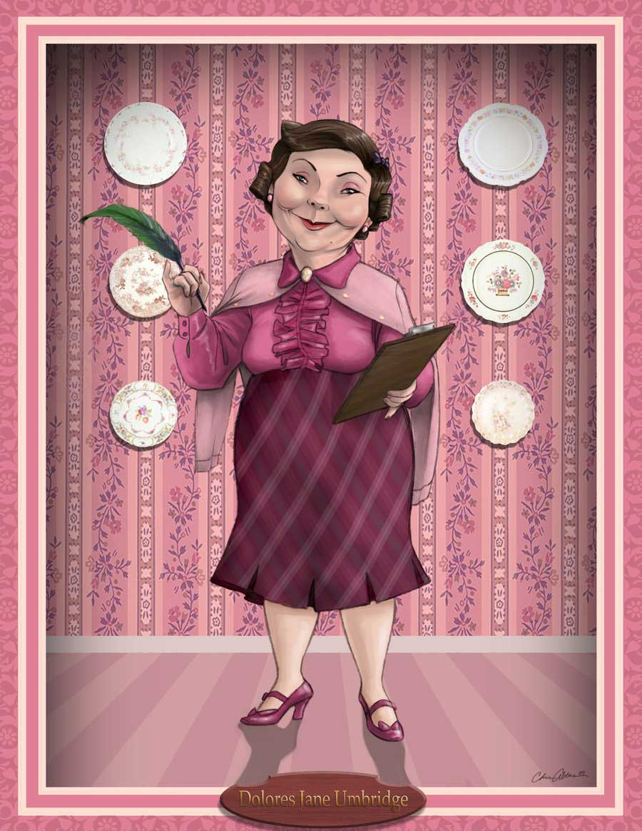 From her hair, wand, and pink clothes to her cat pin and educational decrees, here is everything you need for a Dolores Umbridge costume!