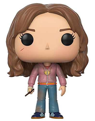 This is Funko Pop! 43 - Hermione Granger wearing Muggle clothes and a Time Turner necklace.