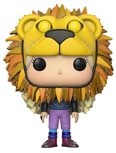 This is Funko Pop! 47 - Luna Lovegood wearing the lion hat that she made to show her support for Gryffindor during a Quidditch game.