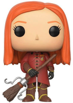 This is Barnes and Noble's exclusive Funko of Ginny Weasley where she is wearing her Quidditch uniform.