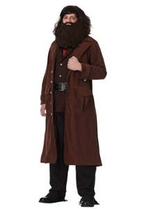 Replica of the coat and shirt worn by Hagrid for a Rubeus Hagrid costume.
