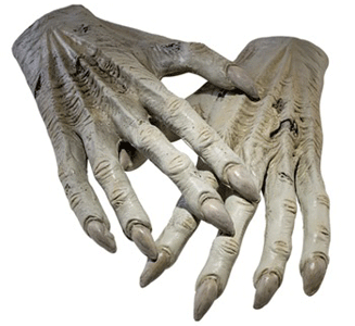 Replica of a Dementor's hands from the Harry Potter movies.